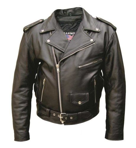 - Men's Basic Premium buffalo leather jacket w/ 6 pockets and quilted Lining AL 2010-32