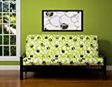 SIS Cover Full Circle Green Futon Cover Fabric (Removable futon cover fabric only. Futon frame and futon mattress sold separately) - Full