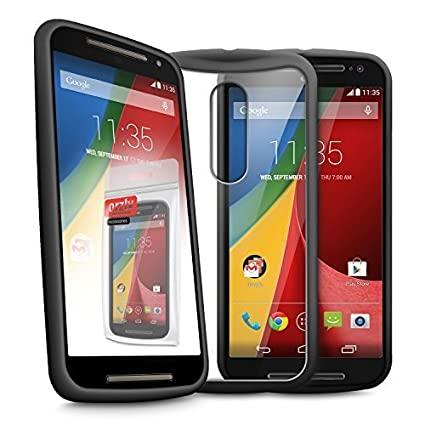 Amazon.com: Orzly® – MOTO-G (Gen 2) – Fusion Gel Hard Case ...