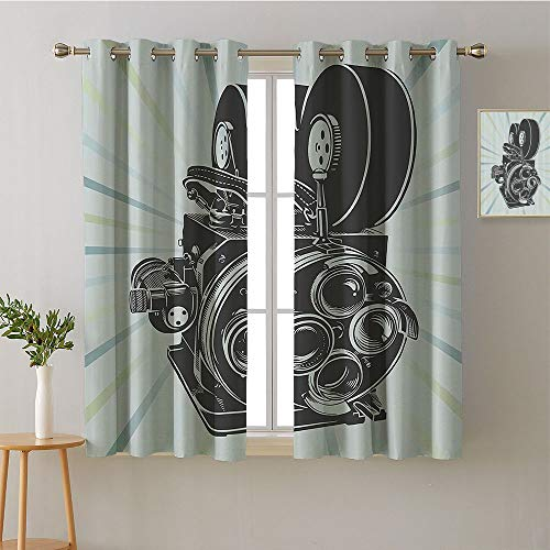 ScottDecor Curtain Kitchen Grommets Light Darkening Curtains Design Darkening Curtains Style Darkening Curtains Room Darkening Curtains(1 Pair, 36