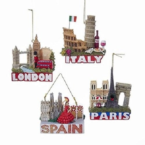 Italy Ornament (Europe Traveler City Ornaments, London, Paris, Italy and Spain (Any 1 Ornament shown on image))