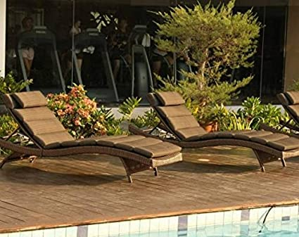 Destiny Luxe cojines acolchados con Wave para tumbona de jardín Liegen – Fregadero: Amazon.es: Jardín