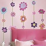 RoomMates RMK1622GM Flower Stripe Peel & Stick Giant Wall Decal