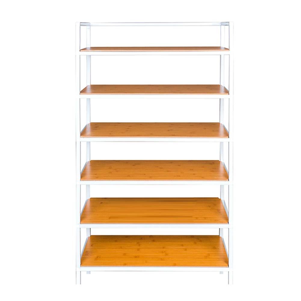 JIANFEI Shoe Shelf Rack Multi-couche Multifonctionnel Placer Les Choses Étanche Résistant À L'usure Amovible (Color : White, Size : 60x28x106cm)