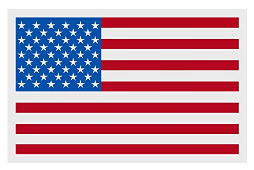 American Flag Small Reflective Decal Sticker - Package of 6