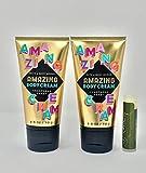 CHAMPAGNE TOAST Bath & Body Works Mini Travel Amazing Body Cream - 2 Pack with a Jarosa Bee Organic Peppermint Lip Balm