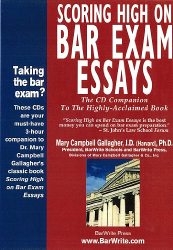 Scoring High on Bar Exam Essays (The CD Companion to the Book)