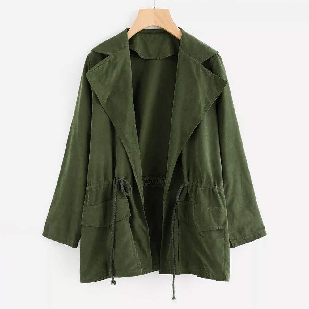 ❤ Abrigo de Viento para Mujer, Chaqueta de Manga Larga para Mujer Chaqueta Cortavientos Parka Pockets Cardigan Thin Blet Coat Absolute: Amazon.es: Ropa y ...