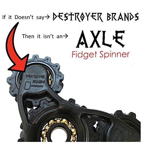 Fidget Spinner- AXLE - by DESTROYER Brands - Fidget Toy, Anxiety Toy, Stress Relief Destroyer Brands
