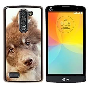 Caucho caso de Shell duro de la cubierta de accesorios de protecci¨®n BY RAYDREAMMM - LG L Bello L Prime - Retriever Mutt Mestizo perro Terrier