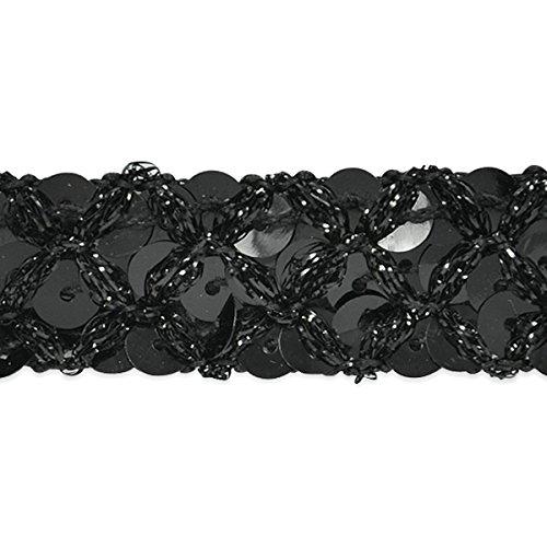 Expo IR8042BK-20 20 yd of Sereia Sequin Trim, Black