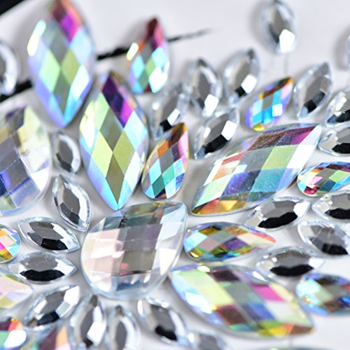 100 Sets Rhinestone Body Jewelry Stick On Crystal Costume Tattoo Nipple Crystal Gem Stones Bindi Stickers by PIAOPIAONIU by PIAOPIAONIU (Image #4)