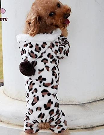 Hoodies Pants For Dogs Cats Black Winter Wedding Leopard