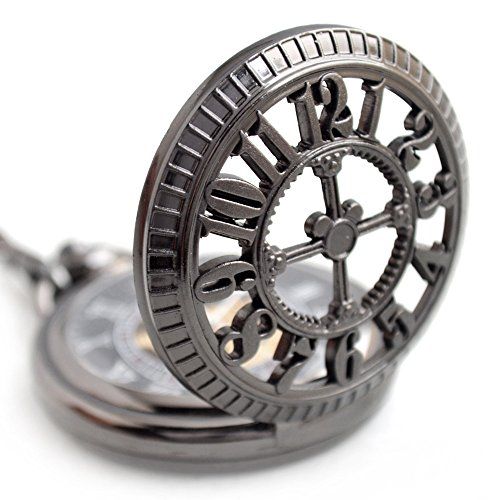 FENKOO Quartz pocket watch Retro clamshell mechanical pocket watch men's business machinery pocket watch dress accessories mechanical watch pocket watches ( Color : 1 ) by FENKOO (Image #1)