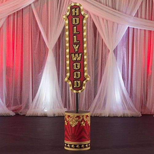 8 ft. 10 in. Hollywood Movie Star Lights, Camera, Party! Sign Standup Photo Booth Prop Background Backdrop Party Decoration Decor Scene Setter Cardboard Cutout -