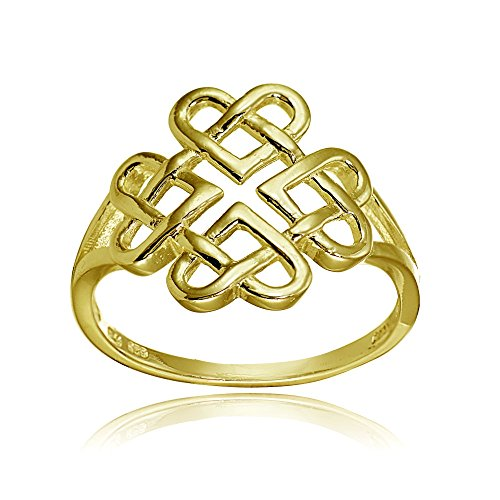 Yellow Gold Celtic Love Knots - 9