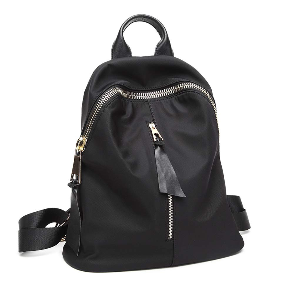 09f6a21473 Backpack - Women s Fashion Simple Oxford Cloth Backpack Small Fresh College  Wild Canvas Bag Mini Trend Large Capacity Leisure Travel Bag (Color   Black