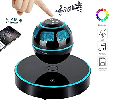 DENT Levitating Speaker, Floating Speaker with Bluetooth 4.0, 360 Degree Rotation, Touch Control Button and Colorful Led Flashing Show Magnetic [NEWEST MODEL] from DENT Products