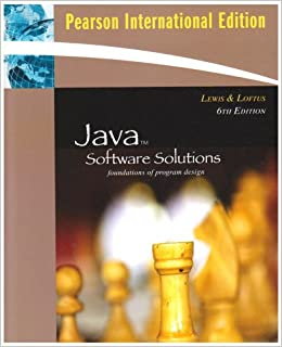 Book Java Software Solutions: International Version: Foundations of Program Design