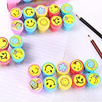 2-oyss Kid's Emoji Design Stamp Craft School Supplies Multi Use Set (10 Pieces)
