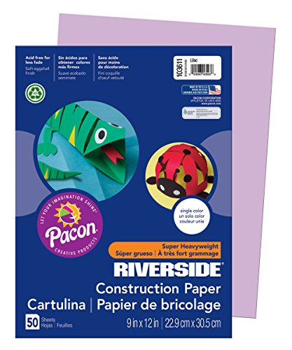 Pacon Groundwood Construction Paper, 9in. x 12in., (Purple Construction Paper)