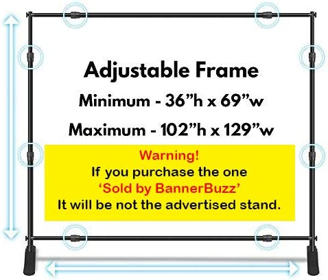 10x8 Banner Stand  Backdrop Telescopic Adjustable Bag Background Step