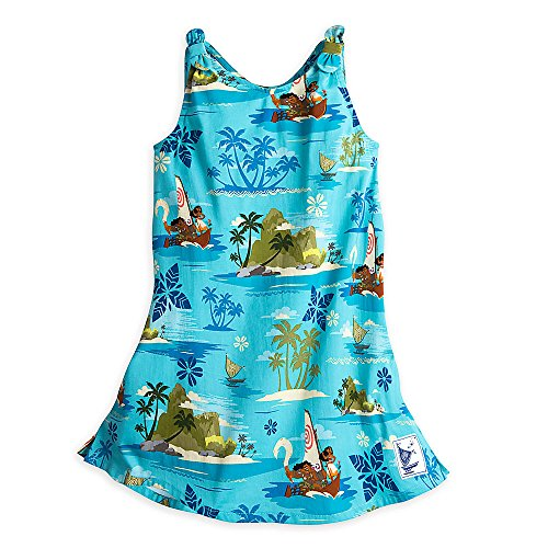 Disney Moana Woven Dress for Girls Blue