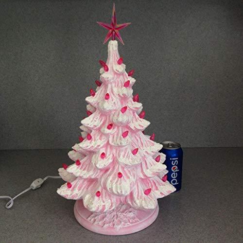 Amazon Com Pink Ceramic Christmas Tree 18 Tabletop Traditional