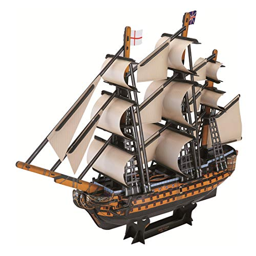 - HMANE 3D Jigsaw Puzzle Boat Miniature Handmade Ship Model Kit Toy Building Jigsaw for Kids Adult - (Victory)