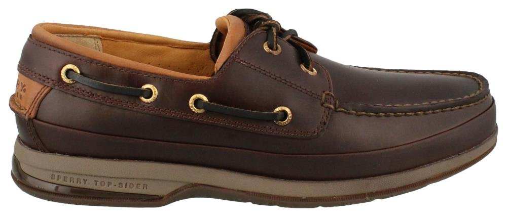 Sperry Men's Gold Cup 2-Eye Boat Shoe, Amaretto, 9.5 W US