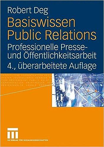 Cover des Buchs: Basiswissen Public Relations: Professionelle Presse- und Öffentlichkeitsarbeit