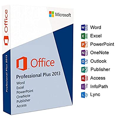 Microsoft Office 2013 Professional Plus Software Full Suite Digital Download link code 1PC