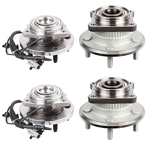 SCITOO Wheel hub Bearing AMC-Jeep Truck Commander 2006-2007 Compatible for OE 513234 Front and Rear W/ABS(4 Pair) (Amc Jeep Truck)