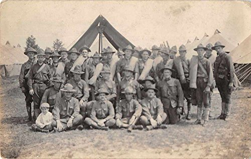 Missouri National Guard Camp Military Soldiers Real Photo Postcard J57676