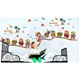 Kaimao Cartoon Animals Decorative Wall Stickers Removable Wallpapers Home Decals for Kids Baby Bedrooms Nursery Schools