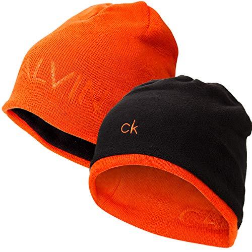 Black Hombre de Gorro Calvin Orange Punto Klein para qC0P14w