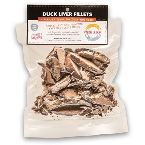 Fresh Is Best Freeze Dried Raw Duck Treats for Dogs & Cats (Duck Liver)
