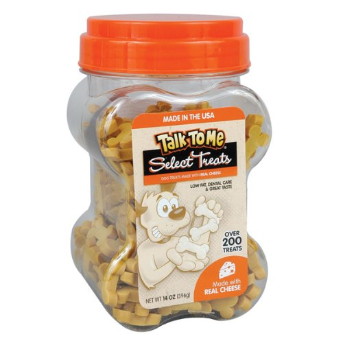Talk To Me Select Dental Treats for Dogs, Cheese Flavored, 14-Ounce Canister, My Pet Supplies