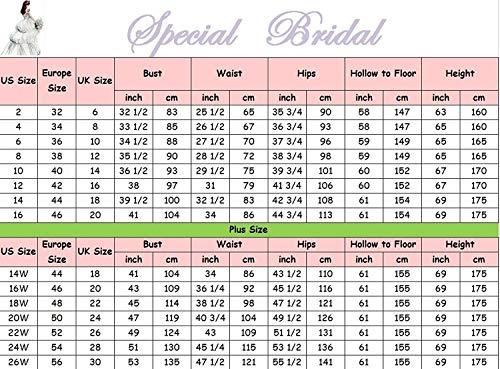 Mujer mangas La Special novia Color Bridal de de Sin Imagen Vestido qwY7zX