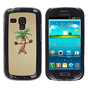 Design for Girls Plastic Cover Case FOR Samsung Galaxy S3 MINI 8190 Palm Tree Cartoon Character Animation Drawing OBBA