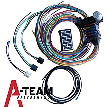 Amazon.com: 22 Circuit Universal Street Rod Wiring Harness w ...