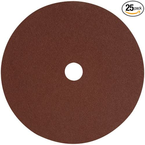 25-Pack DEWALT DARB1F0625 4in AO Fiber Resin Disc 60G