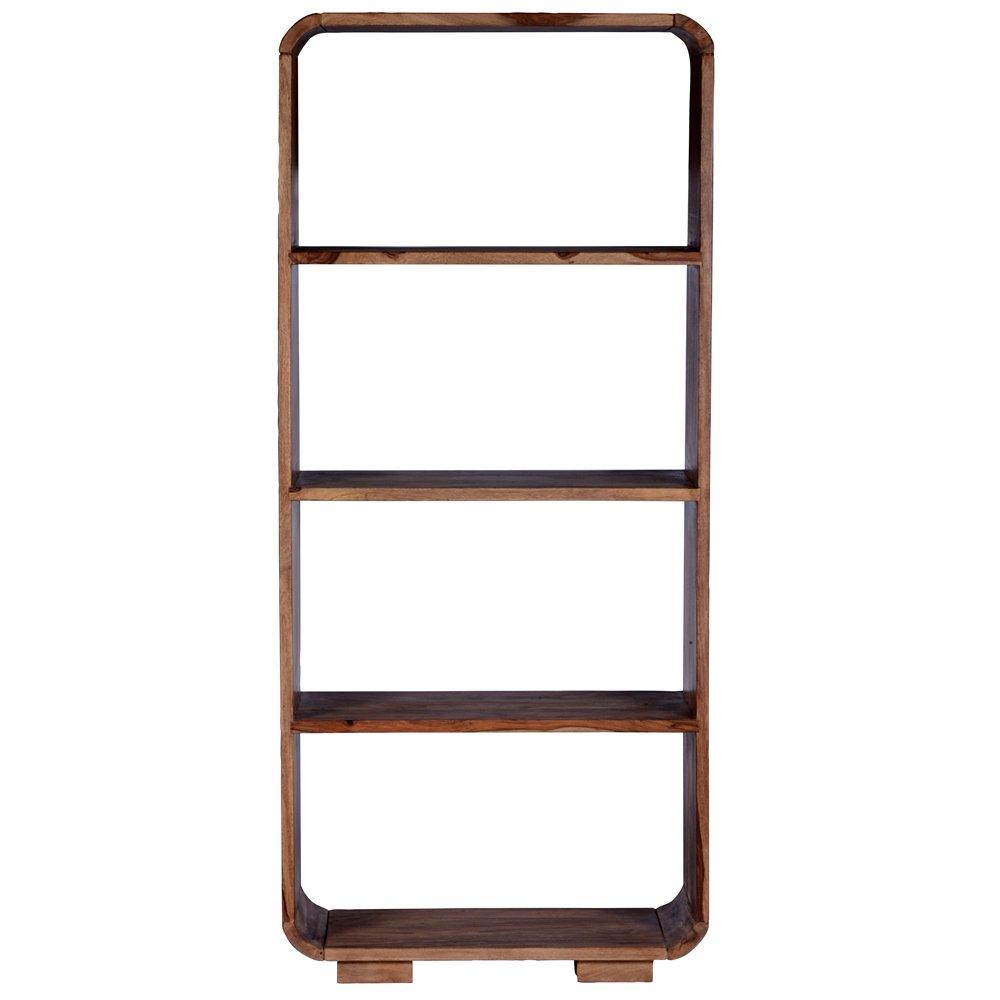 SalesFever Bücherregal aus Shisham Massivholz mit 4 Fächern Shia 85 cm (Breite)