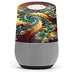 Skin Decal Vinyl Wrap for Google Home stickers skins cover/ Trippy Floral Swirl