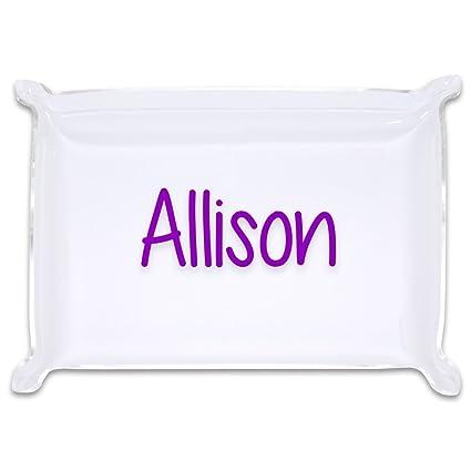 amazon com small personalized acrylic catchall trinket tray home