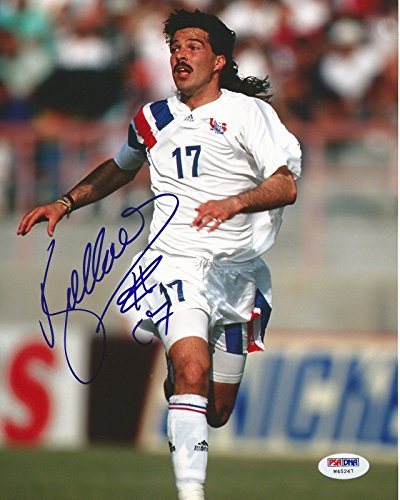 Marcelo Balboa Signed USA 8x10 MLS Colorado Rapids PSA COA #W45247