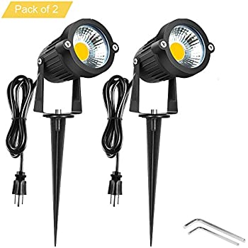 Onerbuy Bright Outdoor LED Landscape Lighting 5W COB Garden Wall Yard Path  Lawn Light Lamp With