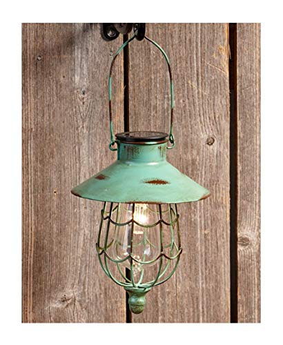 The Lakeside Collection Hanging Solar Lantern- Green