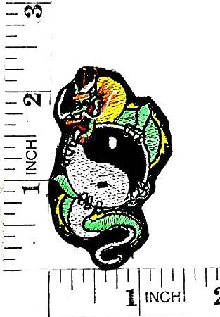 Parche Bordado A Mano Con Dibujos De Dragón Verde Yin Yang Para
