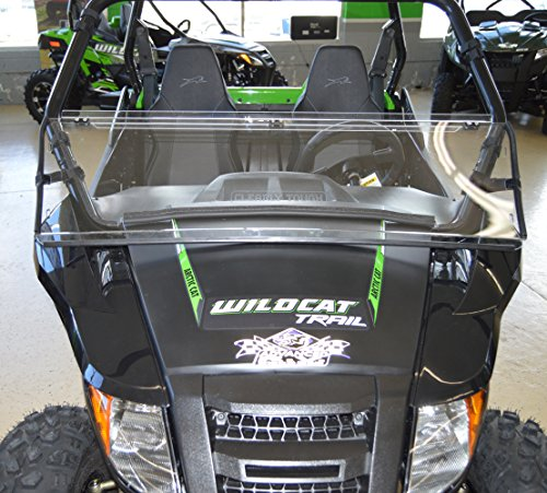 Arctic Cat Wildcat TRAIL / Sport - Full Folding Scratch Resistant UTV Windshield. The Ultimate in Side By Side Versatility!Premium Polycarbonate w/ Hard CoatMade in America!! by Clearly Tough (Image #4)